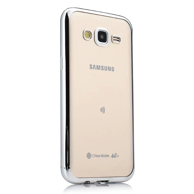 Phone Case For Samsung Galaxy J5 Ultra Thin Clear Plating Electroplating TPU Soft Mobile Phone Cases Cover For Samsung J500