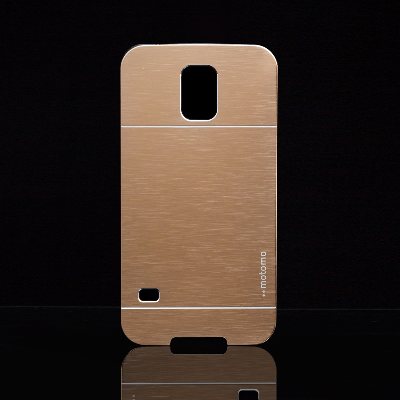 fashion deluxe gold portable metal aluminum hard back brush case cover Samsung Galaxy S5 V i9600 - Get it Happy store
