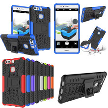HH-XW TPU+PC Armor Case Huawei Ascend P9 Hybrid Shockproof Stand Cover Hard Back Plus Phone - WJP co., LTD store