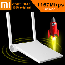 100% Original English Version xiaomi Router AC XiaoMi MiNi Router WiFi Router WiFi Repeater 2.4G&5G Support APP USB Port(China (Mainland))