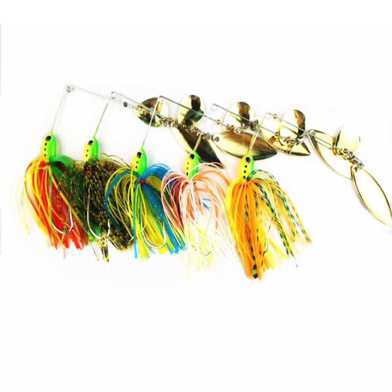 Spinner Bait Fishing Lure Spoon Bait Fresh 5pcs 16.3g 0.61oz Bass Walleye Minnow SPINNERBAIT LURES(China (Mainland))