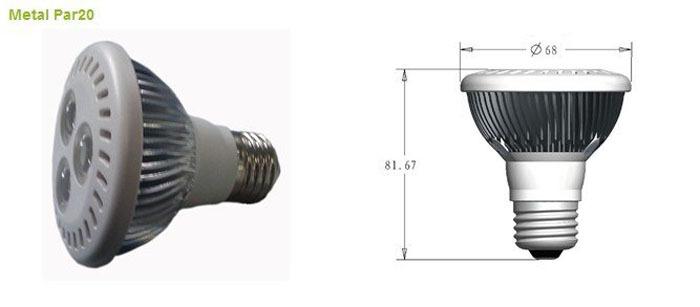 LED spot light lamps the spotlight lights LED 3W Par20 LED Parlighting(China (Mainland))