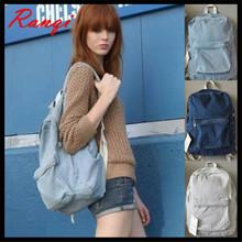2016Denim Backpack American Apparel School Bag Women Fashion Vintage AA Rucksack Bags Men Blue Jeans Denim Backpack Women(China (Mainland))