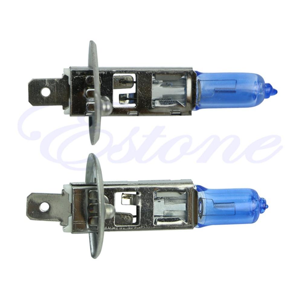 2X H1 55W 12V Xenon Gas Halogen Headlight White Light Lamp Bulbs 6000K<br><br>Aliexpress