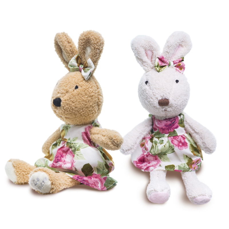 le sucre Wearing dress 30cm kawaii Rabbit plush toys bunny Stuffed dolls kids toys gifts,clothes can be take off(China (Mainland))