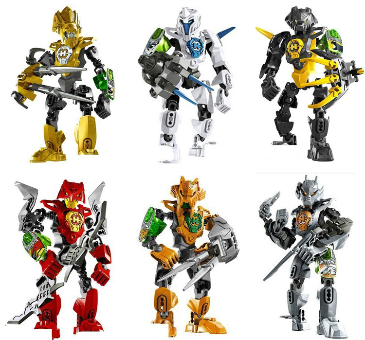 6pcs/lotHero Factory 3.0 Star War Solider STRINGER/STORMER/ROCKA/NEX/AULK/FRNO Minifigures Action figure Toy Decool 96B(China (Mainland))