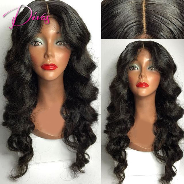 Фотография Virgin Malaysian Human Hair Lace Front Wig Body Wave Full Lace Human Hair Wigs With Baby Hair 6A Glueless Lace Wig Black Women