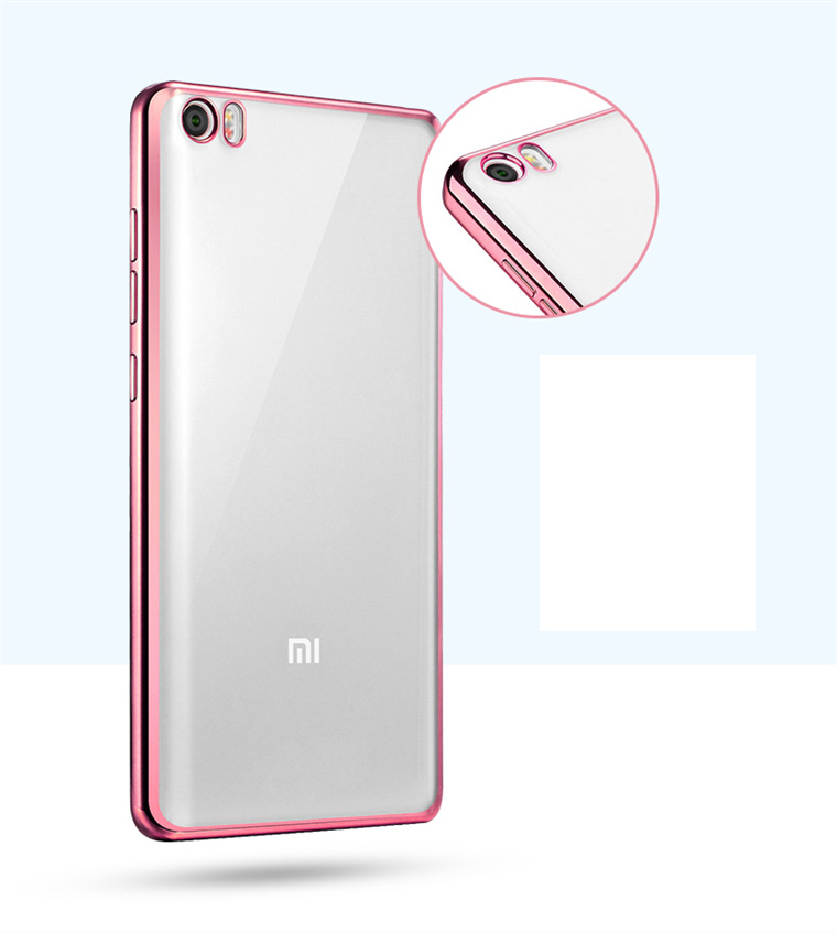 Ultra Slim Plating Gilded Clear TPU Mobile Case Cover For Xiaomi Max 4S 4C 4i 5 Redmi 3 Note 3 Note 2 Silicone Housing Protector(China (Mainland))