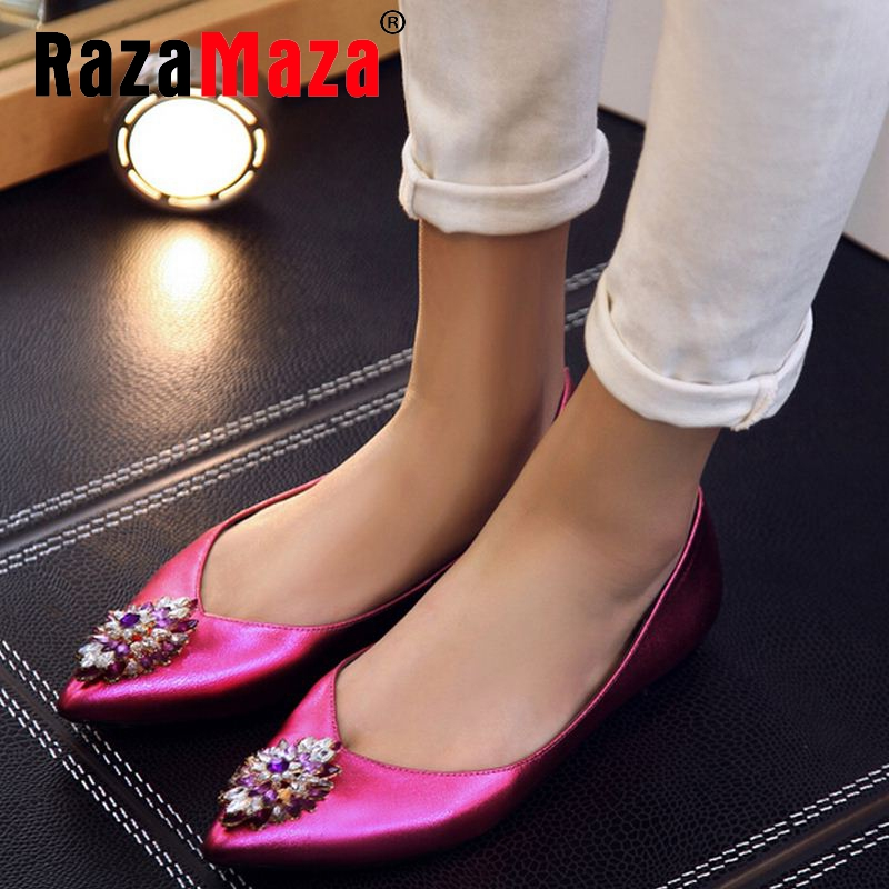 ladies real genuine leather flat shoes women pointed toe party spring fashion brand  vintage footwear shoes size 33-40 R08658<br><br>Aliexpress