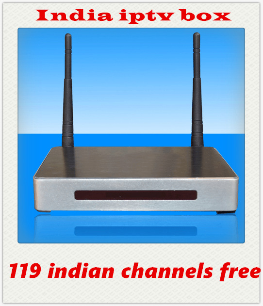 HD Indian IPTV BOX support 119 Indian Live TV Channels with English channels android tv box indian iptv(China (Mainland))