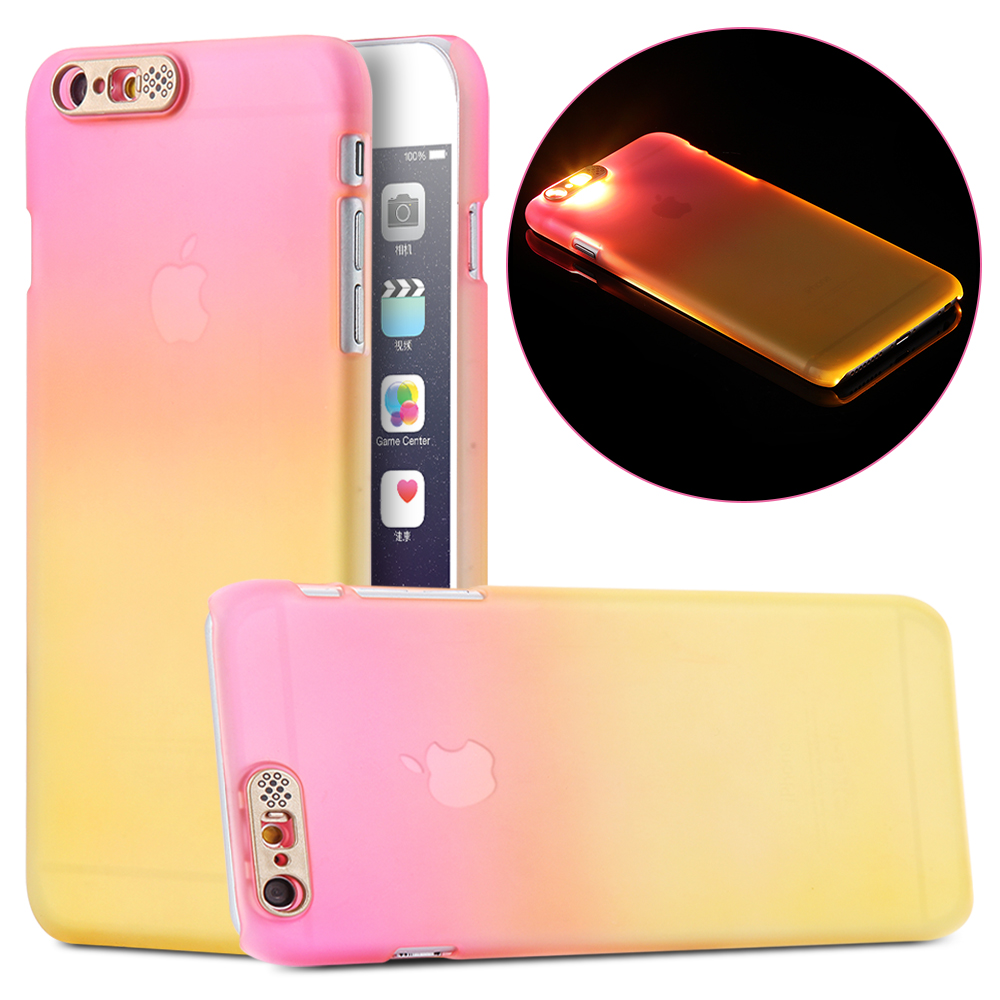 Luminous Smart Cover Case for Apple Iphone 6 6s 4.7'' / 6 6s Plus 5.5'' Hard PC LED Flash Light Founds Colorful For iphone6(China (Mainland))