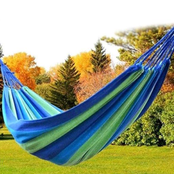 Портативный открытый сад гамак повесить кровать путешествия отдых свинг холст полоса EMS DHL бесплатная доставка