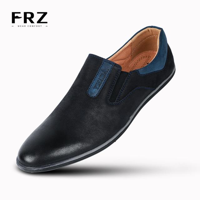 Frz новое мода мужские квартиры обувь дышащий действие кожа скольжения бездельников ...