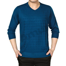 Amur Men's Merino/Cashmere Wool Sweater Jumper V-neck Pullover Knitwear Blue 3 Color(China (Mainland))