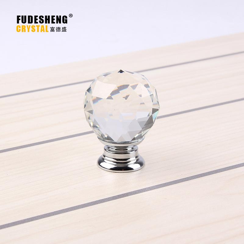 10pcs K9 Clear Crystal Round Knob Furniture Knobs Kitchen Glass Drawer Cabinets Handles Drawer Pulls Closet Decoration Handles(China (Mainland))