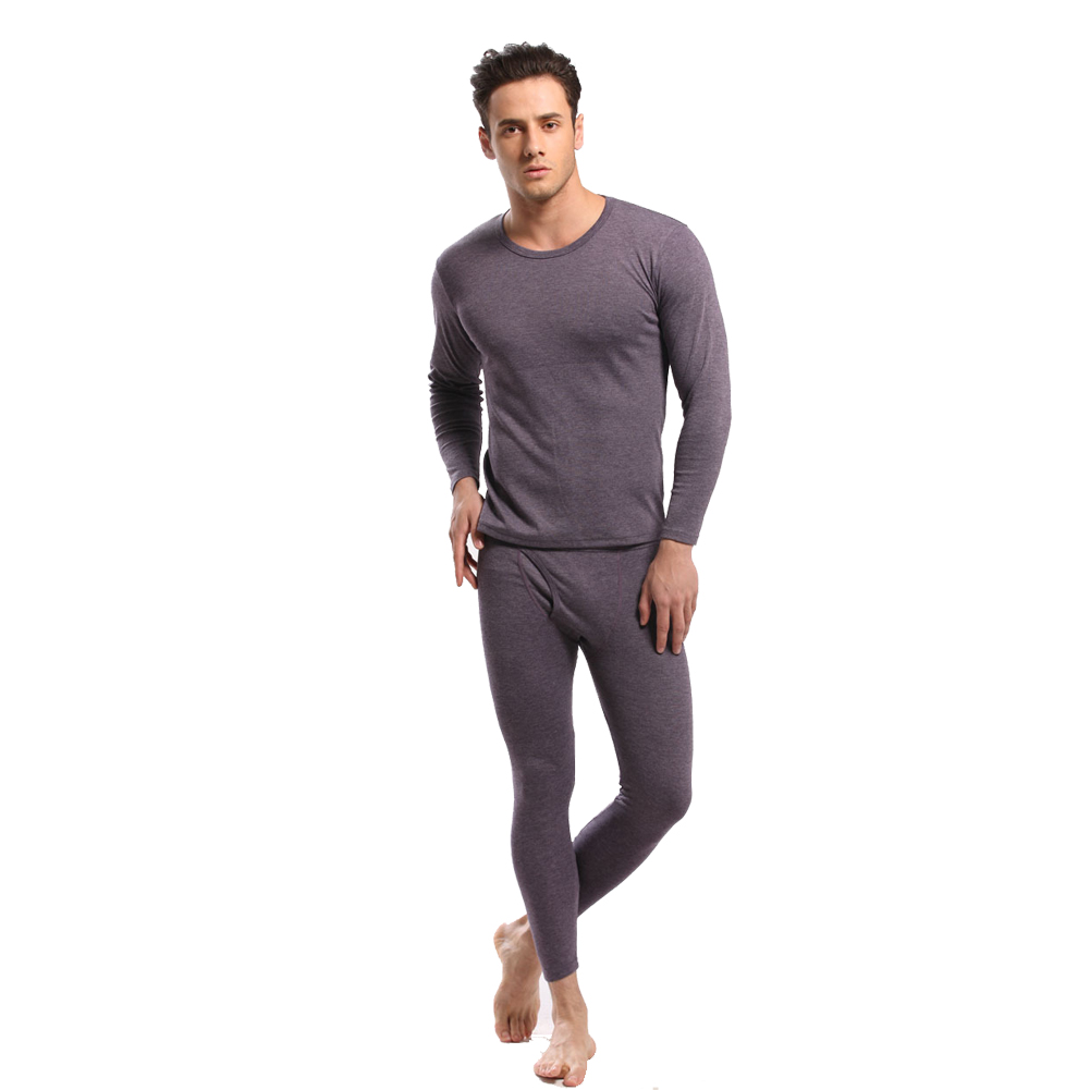 2014 Winter New Solid Color Round Neck Man Long Johns Thin Thermal Underwear Suits Long Johns Underwear(China (Mainland))