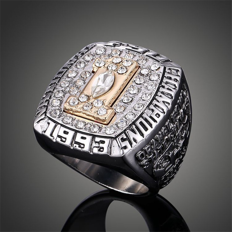 NCAA FSU Florida State University 1993 American Football Replica Super Bowl Champs Rings for Men J02095(China (Mainland))