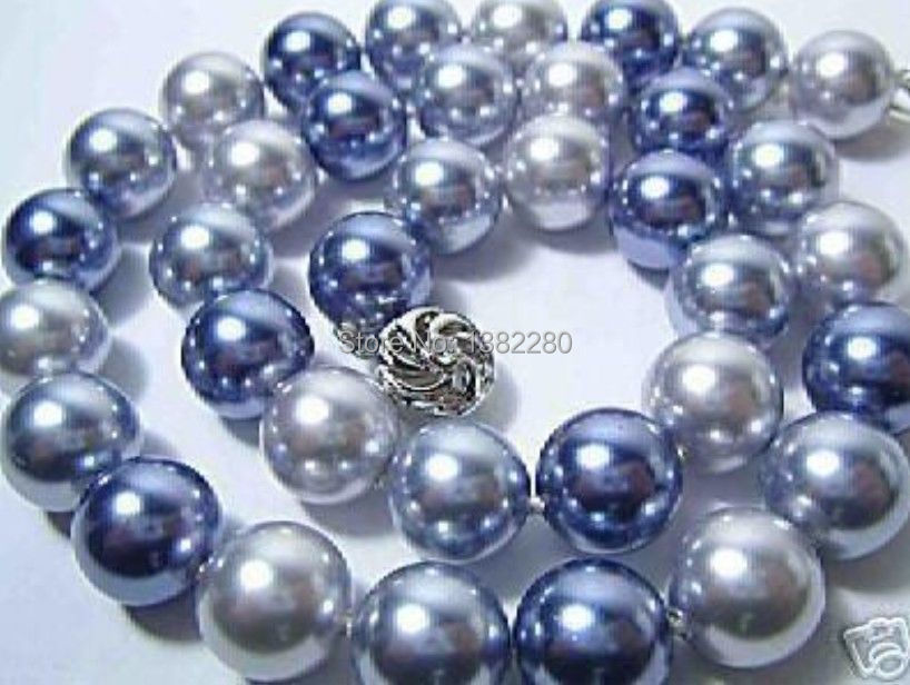 """Free shipping! The new 12mm Multicolor AAA South Sea charming Shell Pearl Necklace 18"""" JT5085(China (Mainland))"""
