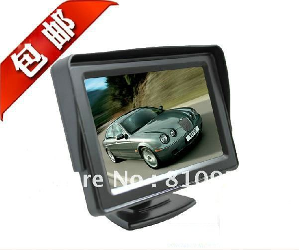 free shipping New 4.3inch Car Monitor,DC12V~24V Compatible,with 2 Video Inputs
