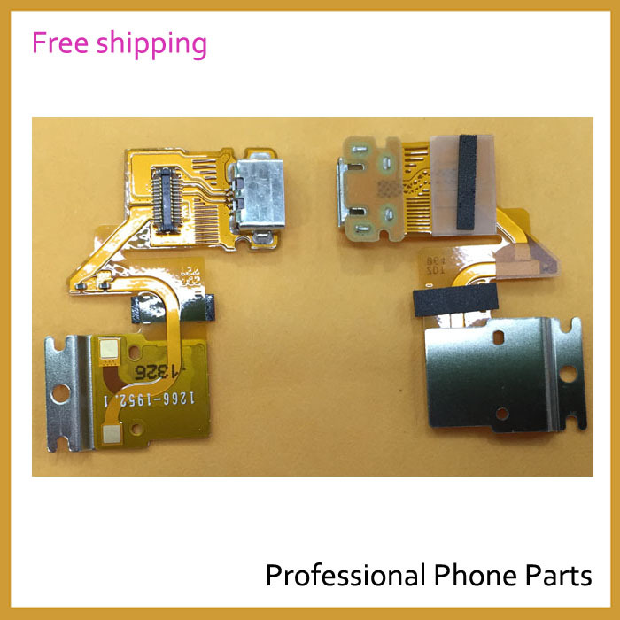 5 pcs /lot Original For Sony Xperia Tablet Z SGP311 SGP312 USB Charging Port Dock Connector Complete Flex Cable, Free Shipping(China (Mainland))