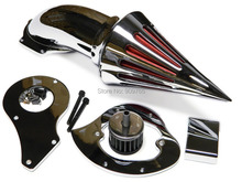 Chrome Spike Air Cleaner Intake Filter For Honda Shadow Steed VLX VT 600 Delux 1999 & up(China (Mainland))