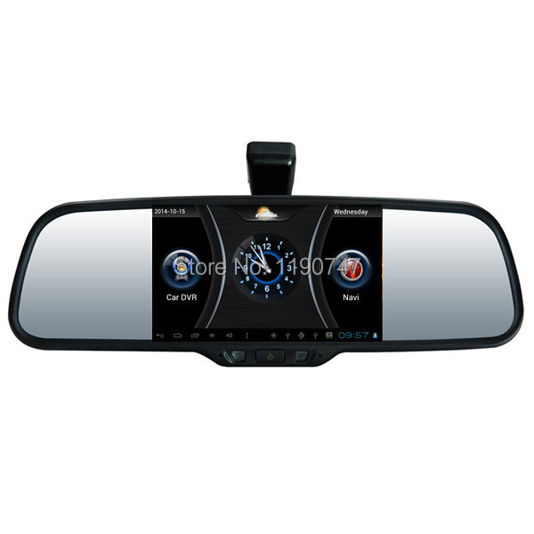 Newest Car Camera Android 4.0 system Car Rearview Mirror 1080P 5'' Touch screen+Back camera WIFI FM BT G-sensor Night Vision GPS(China (Mainland))