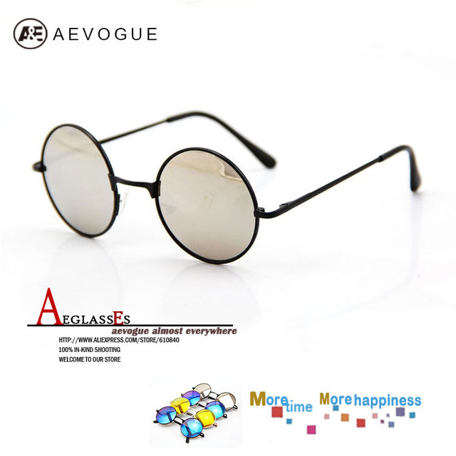 Aevogue 4 цвета круг рама солнечные очки мужчины марка солнцезащитные очки UV400 20 шт. / lot AE0032