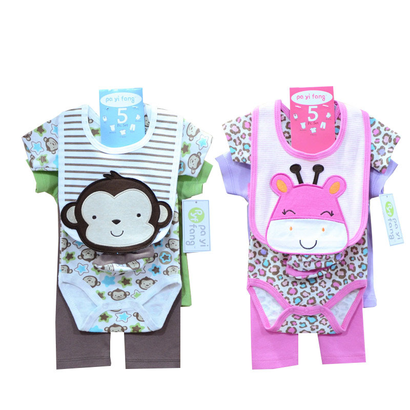 Summer 2015 Baby Girl Clothes 100%Cotton Bebe Recem Nascido Baby Set Infant Clothing Sets Carters Roupa Free shipping S07(China (Mainland))