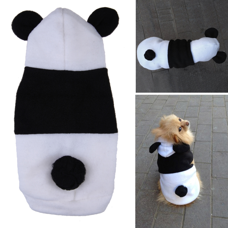 Hot Sale Pet Dog Fleece Panda Ear Hoody Clothes Pullover Warm Coat Costume Outwear High Quality Free Shipping(China (Mainland))