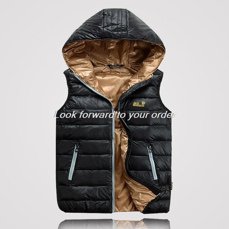 New arrivals Men s fashion down waistcoat winter down vest outdoor casual jacket free shipping