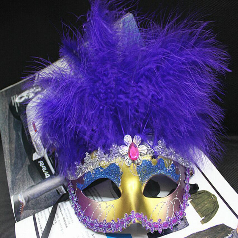 Venice Half Face Lily Feather Mask Fancy Ball Party Princess Mask Masquerade Masks Christmas Decorations for Party JSD-032(China (Mainland))