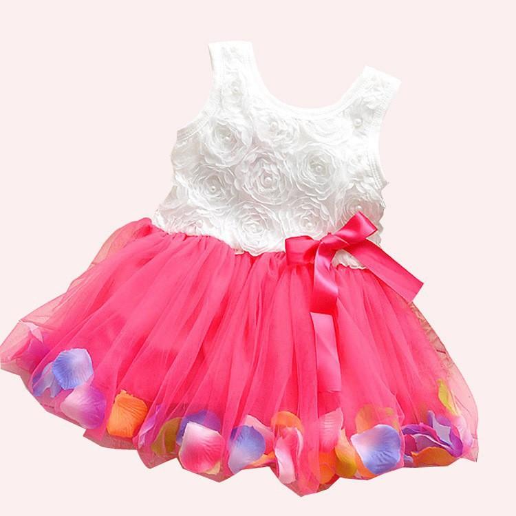 Elegant wedding baby costume/New arrived princess girls dress white bowknot/baby girl Ball gown - HANPPY SHOPPING store
