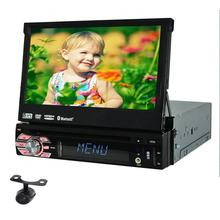 1 Din Car Stereo GPS Navigation 7 Inch Touch Screen Car Radio With Detachable Panel Headunit Supports Bluetooth +Rear Camera