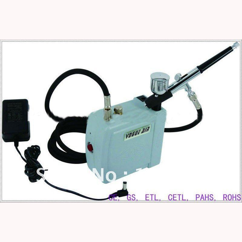 Portable Make Up Airbrush System With Green Mini Air Compressor Air Brush Support automatically shut down 08AC-SK(China (Mainland))