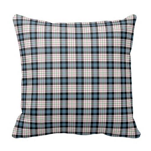 Curly Clan Ferguson Dress Blue font b Tartan b font Throw Pillow Case Size 45x45cm Free