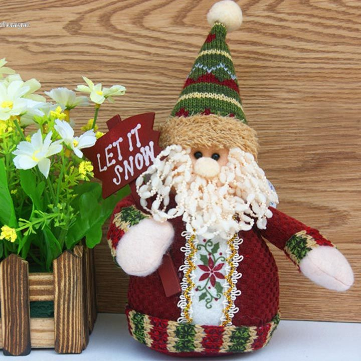 2015 christmas decoration table ornament snowman reindeer for Christmas deer decorations indoor