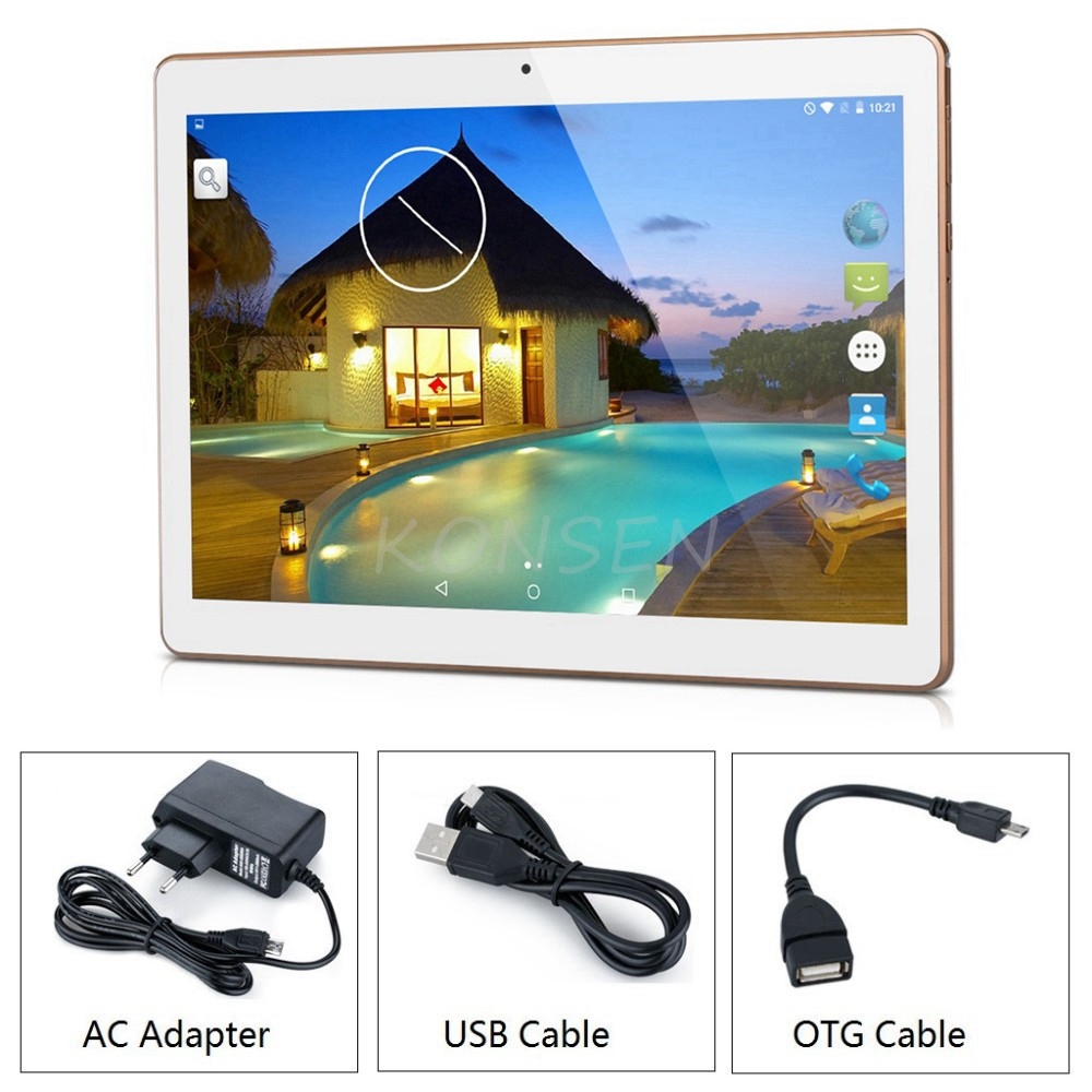 3G Android Tablets PC Tab Pad 10 Inch IPS Screen MTK Quad Core 2GB RAM 32GB ROM Dual SIM Card WIFI GPS 10″ Phablet