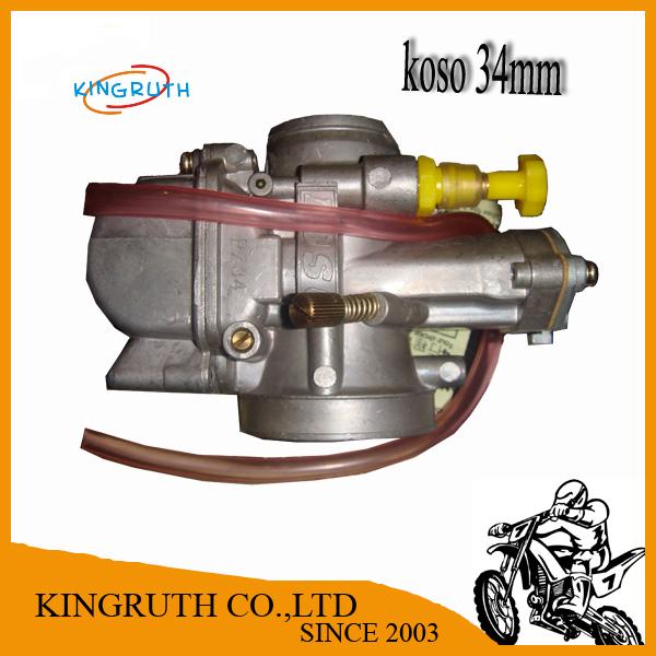 Super Performance racing motorcycle 34mm koso Carburetor Scooter GY6 DIRT BIKE ATV Free Shipping(China (Mainland))