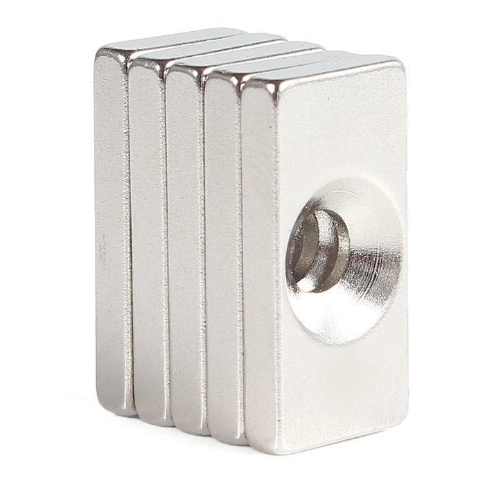 Гаджет  10pcs 4mm Hole Countersunk Magnets Block Neodymium N35 Rare Earth None Строительство и Недвижимость