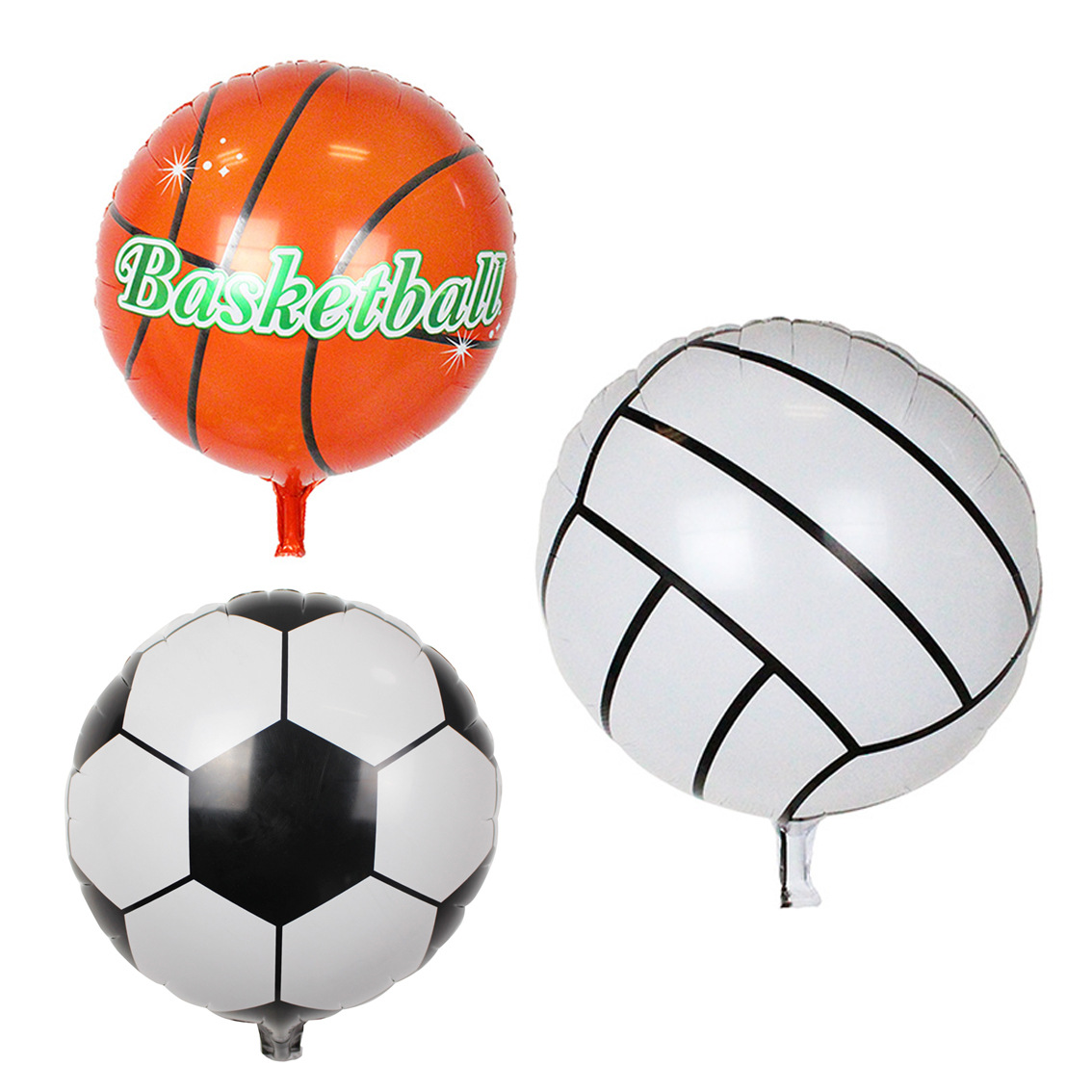 2017 New 18 Inch Football Balloons Basketball Volleyball Wholesale Wedding Party Decoration Birthday Gift for Children Kids Toys(China (Mainland))