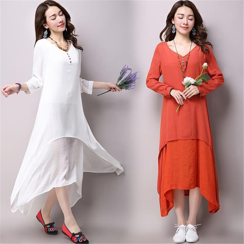 Hot sale!!! 2016 Pregnant Women Long Dress Cotton Linen Solid Candy Color Summer Loose Ruffles Dresses For Gravida Maternity<br><br>Aliexpress