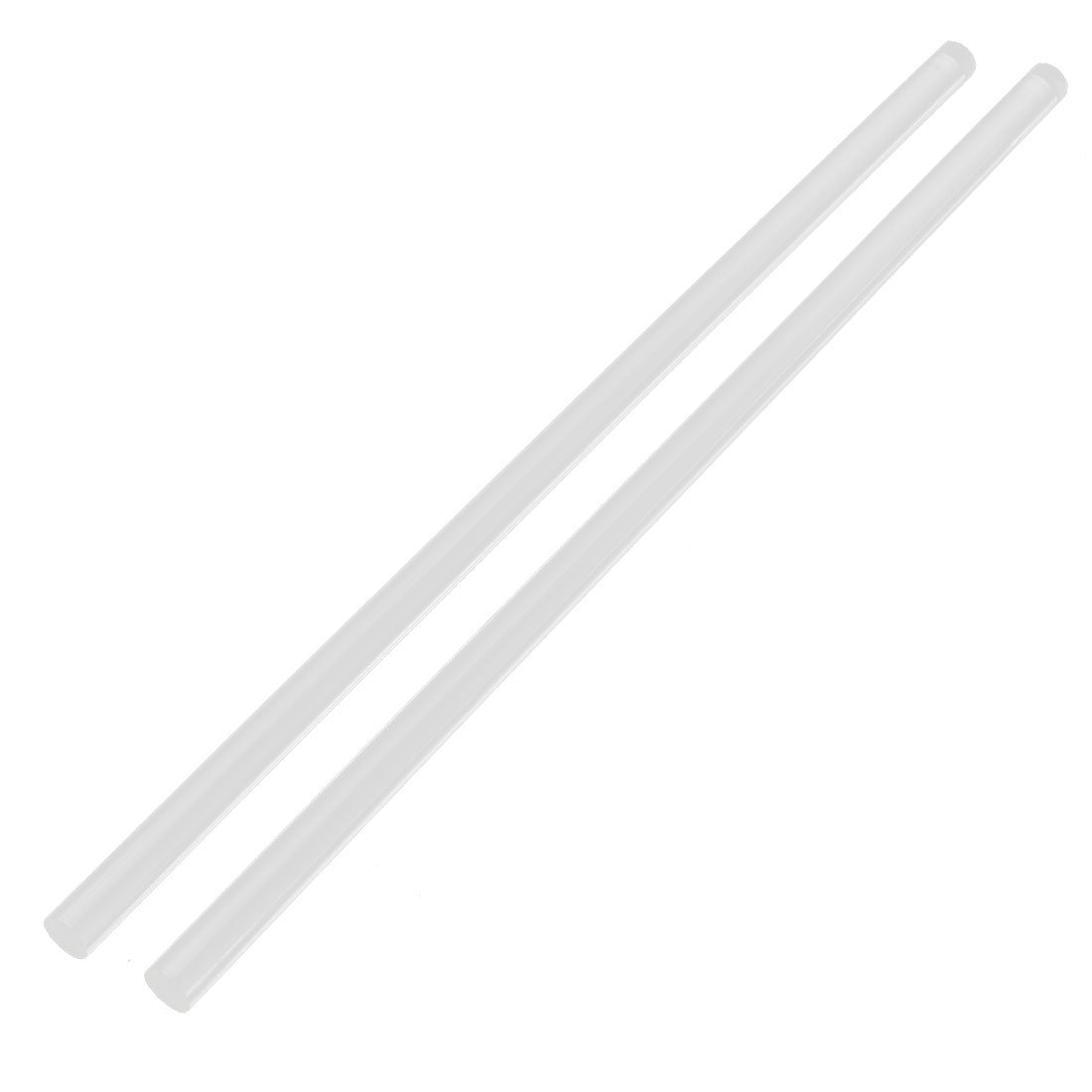 "Hot sale2Pcs 10mm Clear Round Perspex Acrylic Bar PMMA Extruded Rod 12"" Length(China (Mainland))"