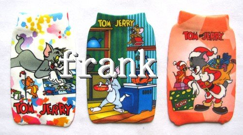wholesale 100pcs/lots tom -jerry Mobile Phone Holder Cases Pouch Socks(China (Mainland))