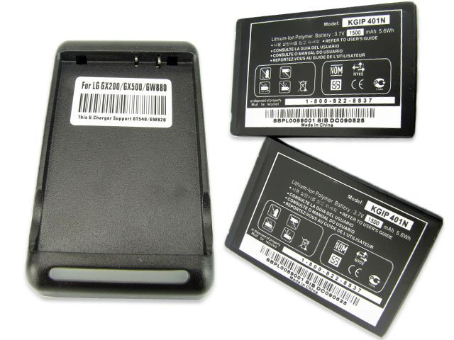 2x 1500Mah Battery + Charger For LG BLI 1169-1,CLZ359,IP-401N,LN510,Rumor Touch LN510,SBPP0028501,VM510