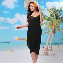2015 Fashion Chiffon Summer Sexy women's crossed beach wear Dress Sarong Cover-ups Female Pareo Ladies Open-Back Bikini swimwear