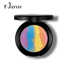 Naras Brand Prism Rainbow Highlighter Makeup Palette Powder Cosmetic Blusher Shimmer Iluminador Maquiagem Contour Eyeshadow(China (Mainland))