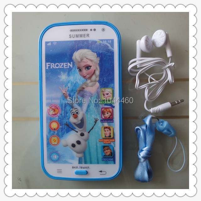 Russian toy ice Romance Princess Puzzle toys versatile light music touch phone best Christmas gift free shipping(China (Mainland))