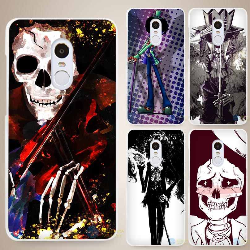 One Piece Brook Music bank Hard White Cell Phone Case Cover for Xiaomi Mi Redmi Note 3 3S 4 4A 4C 4S 5 5S Pro(China (Mainland))