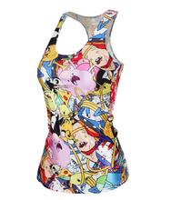 EAST KNITTING Free Shipping summer new 2015 women t shirt RIBS 3D Vest tops Skull bone