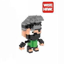 Hatake Kakashi Diamond Building Blocks Model Naruto Toys Ninja Anime Cartoon Characters Gift For Children and Adult Mini Bricks